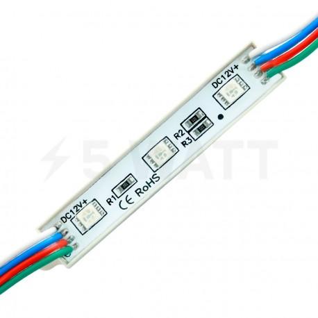 Светодиодный модуль BRT 5050-3 led W 0.72W RGB, 12В, IP65 - купить