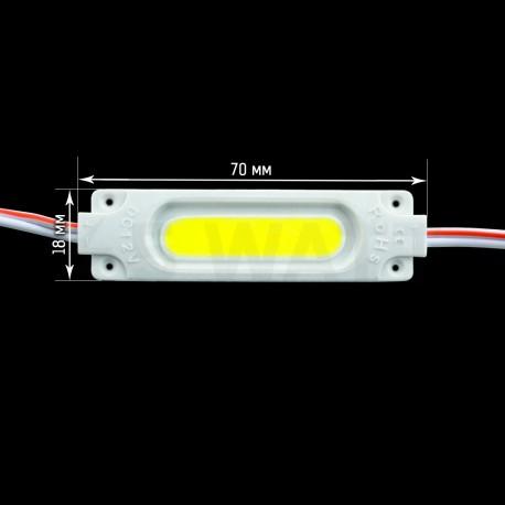 Светодиодный модуль BRT COB 2W 6500K, 12В, IP65 белый - недорого