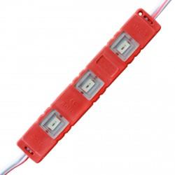 Светодиодный модуль BRT M2 5630-3 led R 1,2W, 12В, IP65 красный закрытый с линзой