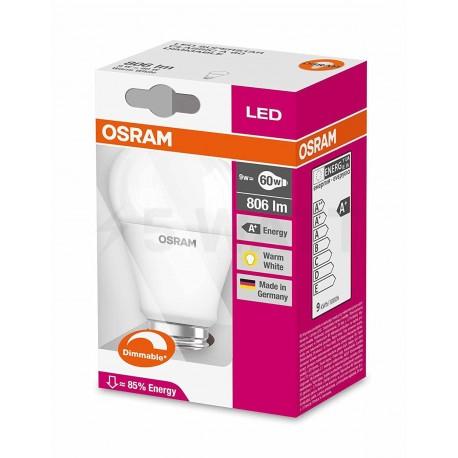 LED лампа OSRAM LED Super Star Classic A60 10W E27 2700K FR DIM 220-240V(4052899911222) - в интернет-магазине
