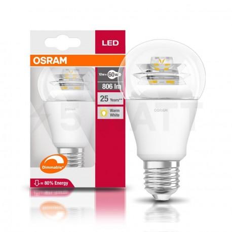 LED лампа OSRAM LED Super Star Classic A60 10W E27 2700K FR DIM 220-240V(4052899913813) - недорого