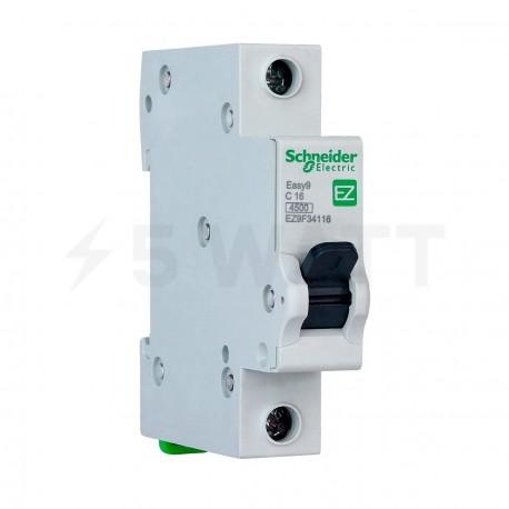 Автоматический выключатель Schneider 1-п. EZ9 16A C (EZ9F34116) - купить