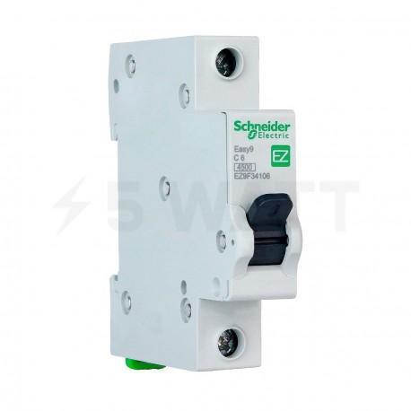 Автоматический выключатель Schneider 1-п. EZ9 6A C (EZ9F34106) - купить