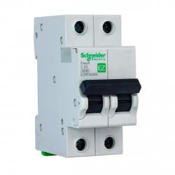 Автоматический выключатель Schneider 2-п. EZ9 63A C (EZ9F34263)