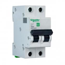 Автоматический выключатель Schneider 2-п. EZ9 6A C (EZ9F34206)