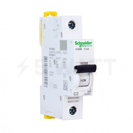 Автоматический выключатель Schneider 1-п. IC60N 2А C (6кА) (A9F74102) - купить