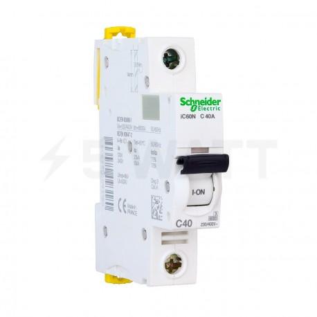 Автоматический выключатель Schneider 1-п. IC60N 40A C (6кА) (A9F79140) - купить