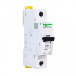 Автоматический выключатель Schneider 1-п. IC60N 50A C (6кА) (A9F79150)
