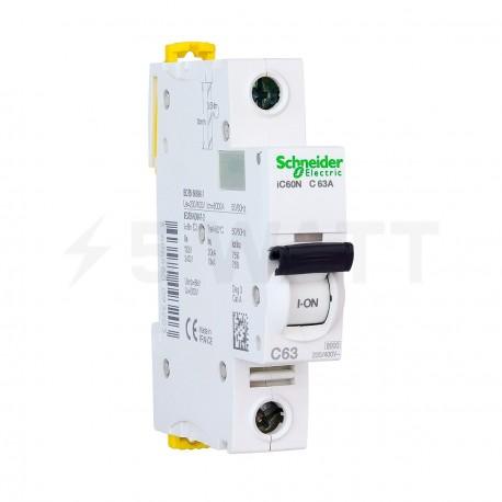 Автоматический выключатель Schneider 1-п. IC60N 63A C (6кА) (A9F79163) - купить