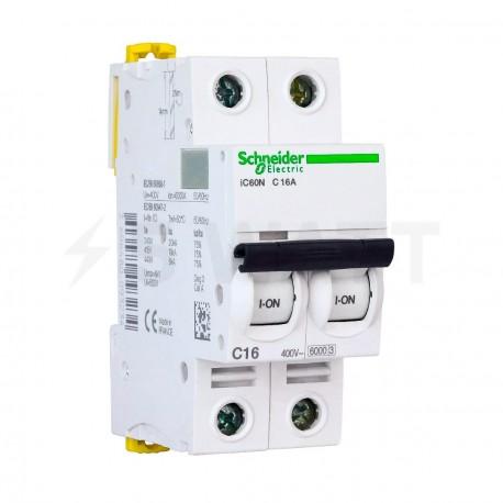 Автоматический выключатель Schneider 2-п. IC60N 16А C (6кА) (A9F79216) - купить
