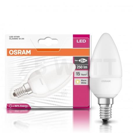 LED лампа OSRAM LED Star Classic B25 4W E14 2700K FR 220-240V(4052899913615) - недорого