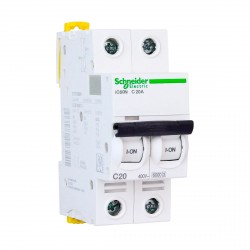Автоматический выключатель Schneider 2-п. IC60N 20А С (6кА) (A9F79220)