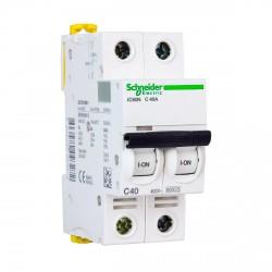 Автоматический выключатель Schneider 2-п. IC60N 40А С (6кА) (A9F79240)