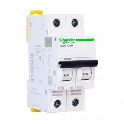 Автоматический выключатель Schneider 2-п. IC60N 50А С (6кА) (A9F79250)