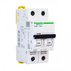 Автоматический выключатель Schneider 2-п. IC60N 63А С (6кА) (A9F79263)