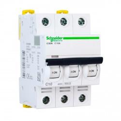 Автоматический выключатель Schneider 3-п. IC60N 10А C (6кА) (A9F79310)