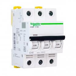 Автоматический выключатель Schneider 3-п. IC60N 16А C (6кА) (A9F79316)