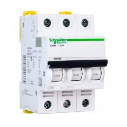 Автоматический выключатель Schneider 3-п. IC60N 20А C (6кА) (A9F79320)