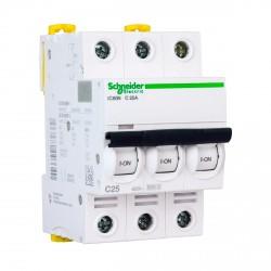 Автоматический выключатель Schneider 3-п. IC60N 25А C (6кА) (A9F79325)