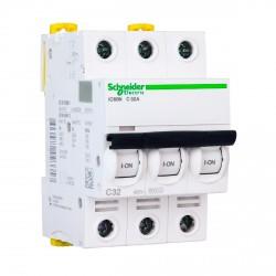 Автоматический выключатель Schneider 3-п. IC60N 32А C (6кА) (A9F79332)