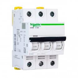 Автоматический выключатель Schneider 3-п. IC60N 40А C (6кА) (A9F79340)