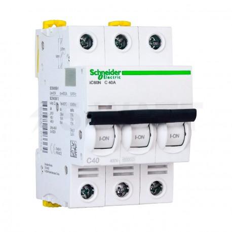 Автоматический выключатель Schneider 3-п. IC60N 40А C (6кА) (A9F79340) - купить