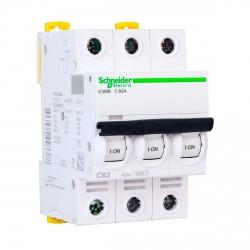 Автоматический выключатель Schneider 3-п. IC60N 63А C (6кА) (A9F79363)