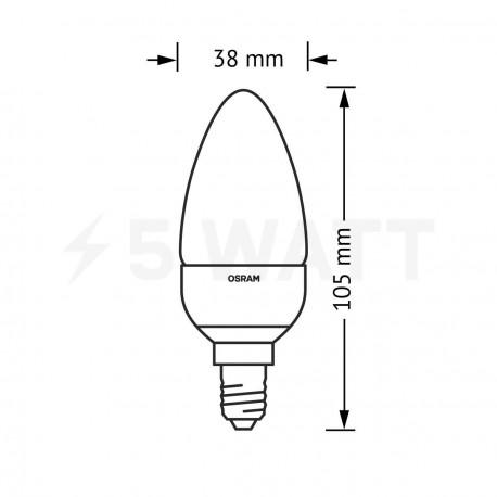 LED лампа OSRAM LED Star Classic B25 4W E14 2700K FR 220-240V(4052899913615) - в Україні