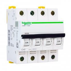Автоматический выключатель Schneider 4-п. IC60N 40А C (6кА) (A9F79440)
