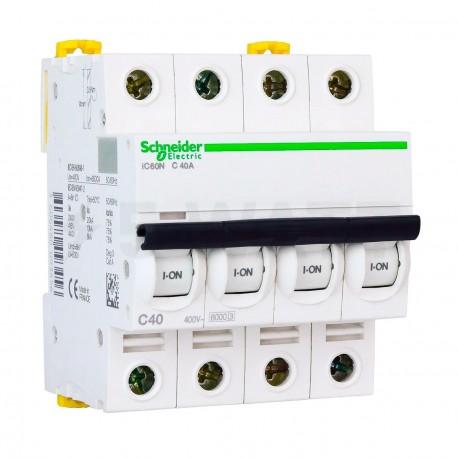 Автоматический выключатель Schneider 4-п. IC60N 40А C (6кА) (A9F79440) - купить