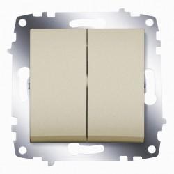 Выключатель 2-кл. ABB Cosmo титан (619-011400-202)