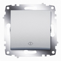 Выключатель 1-кл.перекр. ABB Cosmo алюминий (619-011000-214)