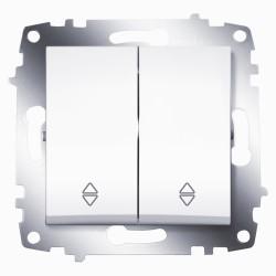 Выключатель 2-кл.прох. ABB Cosmo белый (619-010200-211)