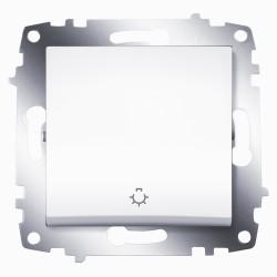 Выключатель 1-кл.кноп. ABB Cosmo белый (619-010200-205)