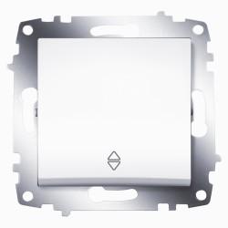 Выключатель 1-кл. унив.(прох.) ABB Cosmo белый (619-010200-209)