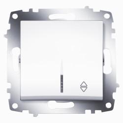 Выключатель 1-кл. унив. с подсв. ABB Cosmo белый (619-010200-210)