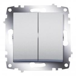 Выключатель 2-кл. ABB Cosmo алюминий (619-011000-202)
