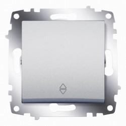Выключатель 1-кл. унив.(прох.) ABB Cosmo алюминий (619-011000-209)