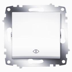 Выключатель 1-кл.перекр. ABB Cosmo белый (619-010200-214)