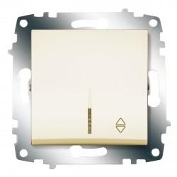 Выключатель 1-кл. унив. с подсв. ABB Cosmo кремовый (619-010300-210)