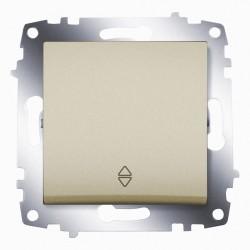 Выключатель 1-кл. унив.(прох.) ABB Cosmo титан (619-011400-209)