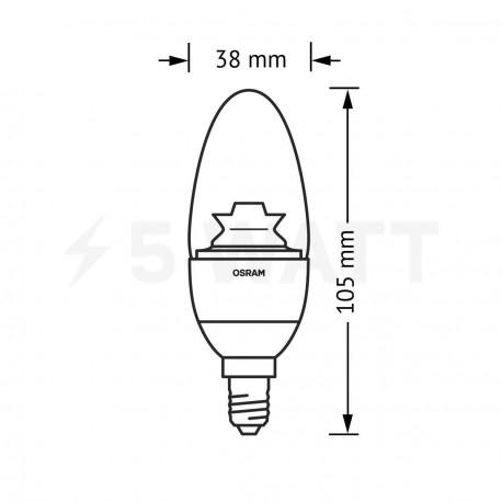 LED лампа OSRAM LED Super Star Classic B40 6,5W E14 2700K CL DIM 220-240V(4052899900899) - магазин светодиодной LED продукции