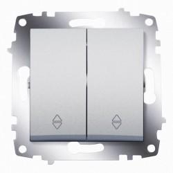 Выключатель 2-кл.прох. ABB Cosmo алюминий (619-011000-211)