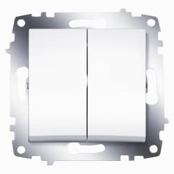 Выключатель 2-кл. ABB Cosmo белый (619-010200-202)