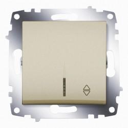Выключатель 1-кл. унив. с подсв. ABB Cosmo титан (619-011400-210)