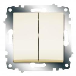 Выключатель 2-кл. ABB Cosmo кремовый (619-010300-202)