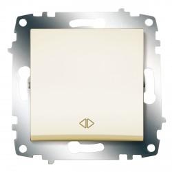 Выключатель 1-кл.перекр. ABB Cosmo кремовый (619-010300-214)