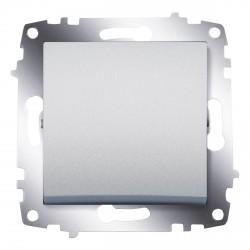 Выключатель 1-клав. ABB Cosmo алюминий (619-011000-200)