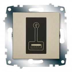 Розетка USB для подзарядки ABB Cosmo титан (619-011400-142)