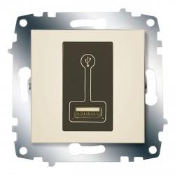 Розетка USB для подзарядки ABB Cosmo кремовая (619-010300-142)